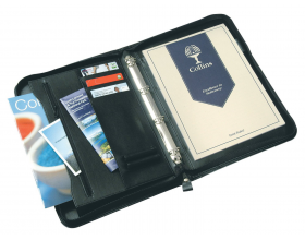 Collins Conference Ringbinder Portfolio A4 Folder Zipped