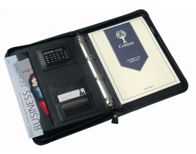 Collins A4 Conference Folder Folio Organiser with Zip, Ringbinder