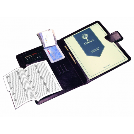 A4 Conference Presentation Folder Case Portfolio with Calculator Address Book