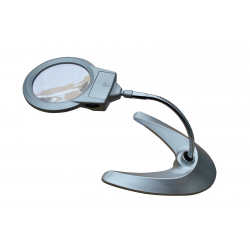Desk Table Floor Magnifying Lamp Illuminating Magnifier Glass and Reading Light