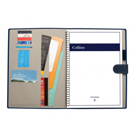 A4 Padfolio Folio Case Organiser Meeting Conference Folder with Notebook