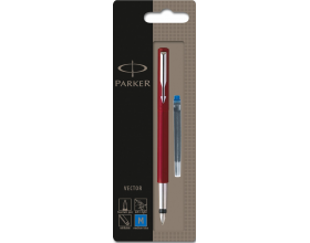 Parker Vector S0159960 Fountain Ink Pen Red (Blister Pack)