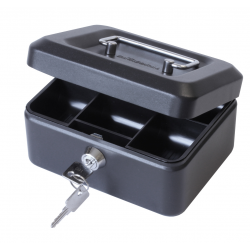 "6"" Key Lockable Storage Security Petty Cash Small Money Box"