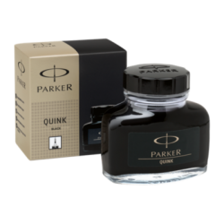 Parker Quink Ink Bottle 57ml Permanent Black S0037460