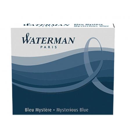 Waterman Ink Cartridge Refills Mysterious Blue Standard Pack of 6
