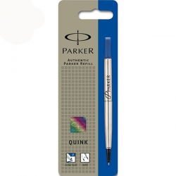 Parker Quink Rollerball Pen Refill Medium Blue