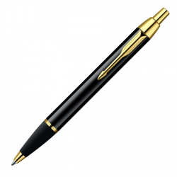 Parker IM Gold Trim Ballpoint Pen with Medium Nib S0878591