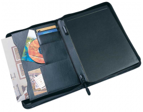 Collins A4 Conference Folder Portfolio Presentation Folio Zipped