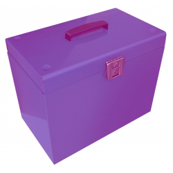 Cathedral A4 Lockable Suspension File Box, Purple A4PP
