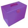 Cathedral Foolscap Suspension File Storage Box, Purple HOPP