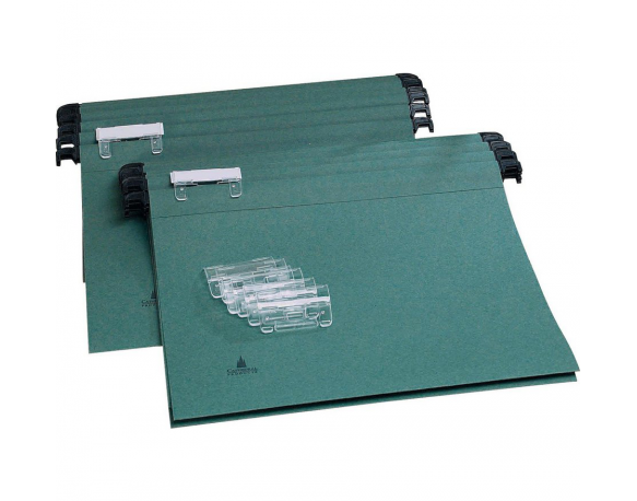 Cathedral A4 Suspension Files with Index Tabs, Green Pack of 10