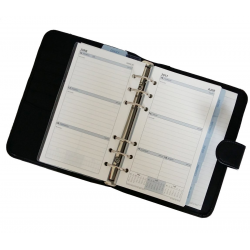 Collins Chatsworth Personal Organiser Week to View Diary - Black PR2999