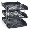 Office Filing Trays A4 Document Desk Riser Letter Paper Storage Organiser 3 Tier