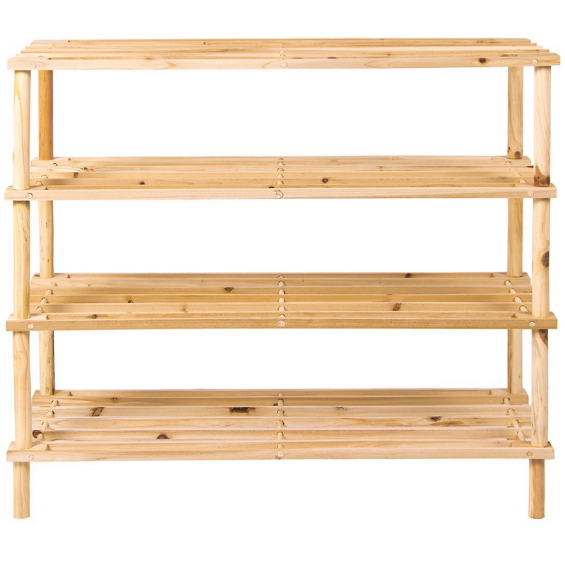 ... 4 Tier Wooden Shoe Rack Vertical Storage Shelf Unit ...