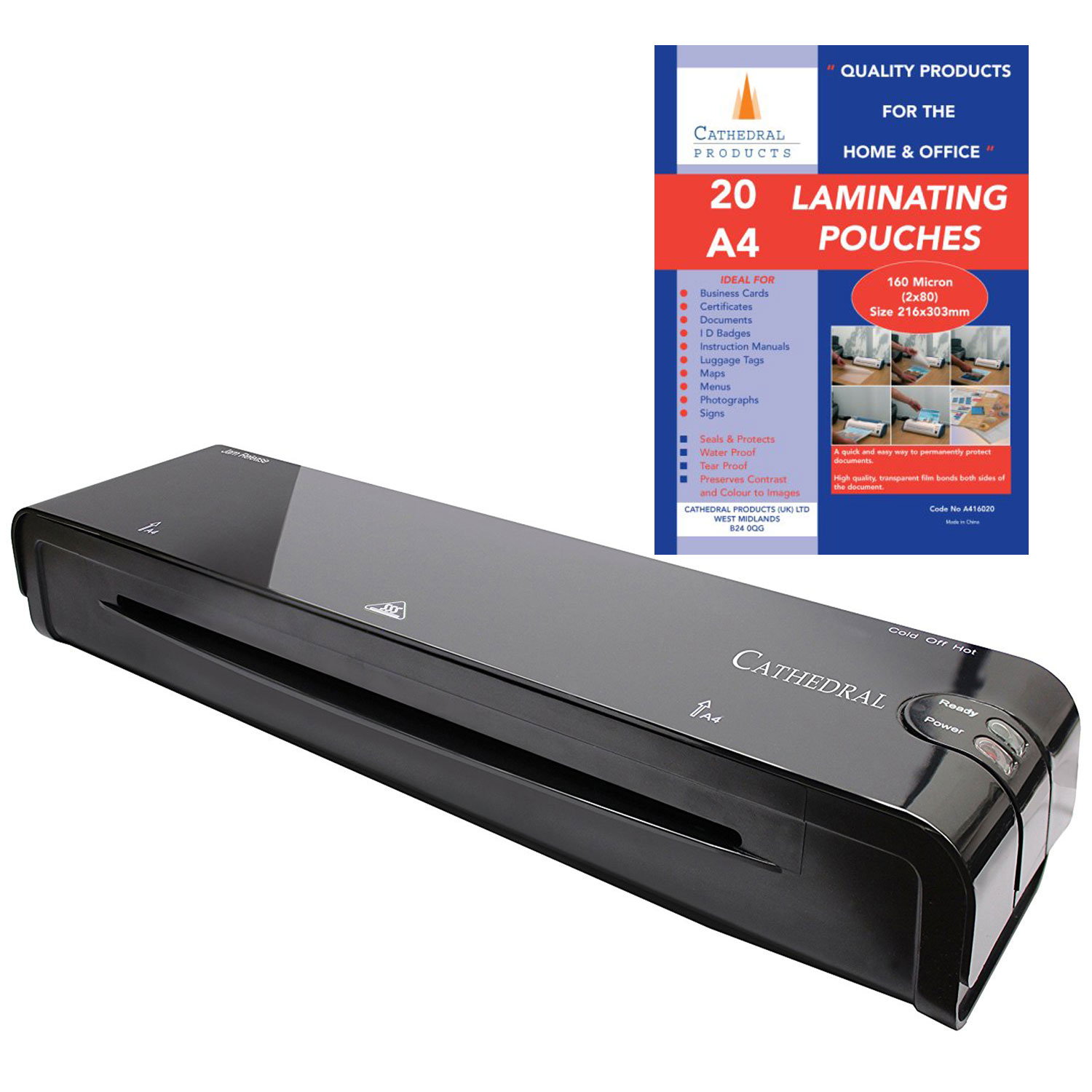 Cathedral LM400 A4 Laminating Machine Black