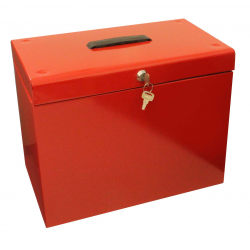 Cathedral A4 Portable File Box, Red A4RD