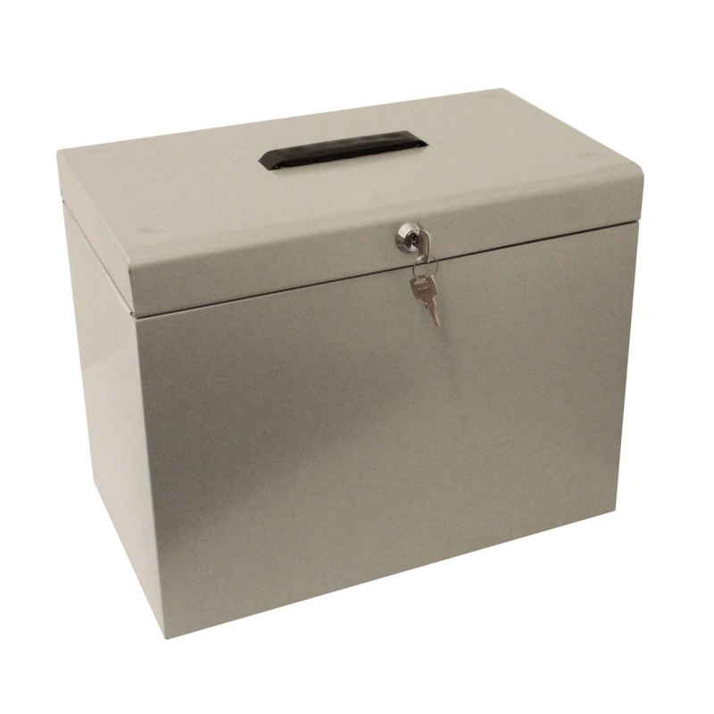 Cathedral A4 Metal File Storage Box, Storage Box With Lock