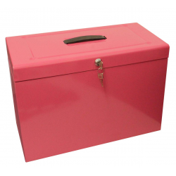 Cathedral Foolscap Suspension File Storage Box, Pink HOPK