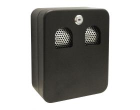 Wall Mounted Ashbin Cigarette Bin Outdoor Small Metal Ash Box with Lid Lockable