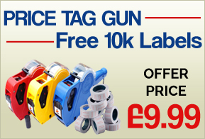 Price Tag Guns + Label Rolls
